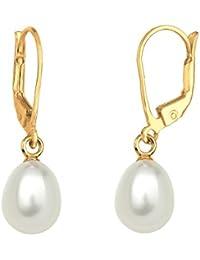Goldhimmel Damen-Ohrhänger 925 Silber Süßwasserzuchtperle Weiß - 0311780414