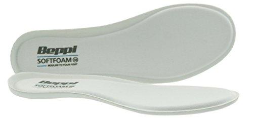 Beppi Softfoam Antibakterielle, weiche Einlagesohle mit Memory Gel, perfekt fürs Wandern, unterstützt beanspruchte Füße, Weiß, Größe 36 -