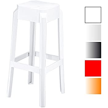 Comptoir Chaise avec Repose Tabouret 75 Plastique Léger Stable de Fox Empilable Haute de et Cuisine CLP Hauteur cm de Pied Bar en Tabouret 0P8wOkn