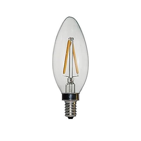 Dimmbar Edison LED Filament Glühbirne, Jaja Tech E14LED Kerze Lampe 12W 230V Antik Retro Vintage LED Leuchtmittel Kunstlicht