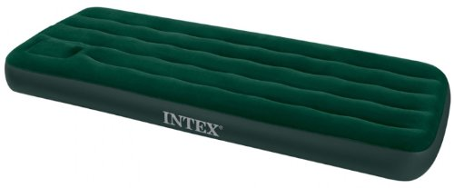 Intex 66950 Luftbett Downy Green Jr. Twin mit Fußpumpe, 76 x 191 x 22 cm
