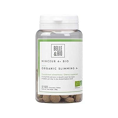 Belle&Bio - Minceur 4+ Bio - 120 comprimés - Brûleur - Capteur - Certifié Bio par Ecocert - Thé vert, Guarana, Artichaut et Laminaire - Fabriqué en France