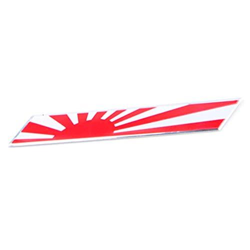 SMIAO Estilo Japonés Bandera Insignia Emblema Coche