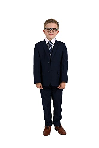 Vivaki 5 Piece Slim Fit Navy Suit (10-11 years)