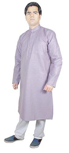 Stilisti Kurta pigiama pantaloni da uomo abito indiano per gli uomini viola taglia L