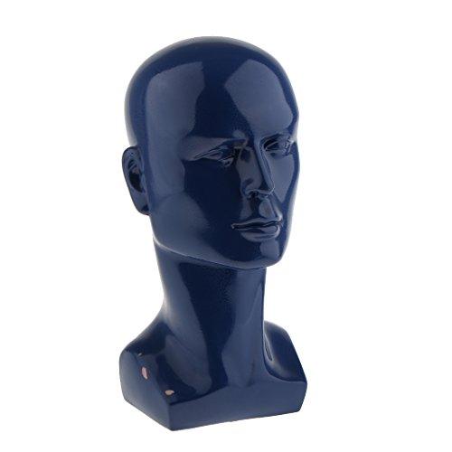 Sharplace Tête Mannequin Hommes en Plastique Brillant Présentoir Perruque Support Chapeaux Porte Lunettes Affichage Stand