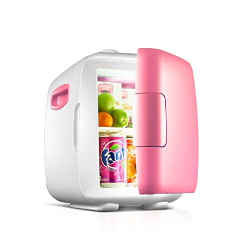 GUOF Mini Auto Kühlschrank Kühlschrank, Auto-Camping, heißer und kalter Mini-Kühlschrank Mini Kühlschrank Kühler (Color : Pink)