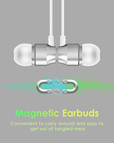 PALOVUE Earflow In-Ear Lightning Kopfhörer Magnetischer MFi Zertifizierter Ohrhörer mit Mikrofon-Controller für iPhone X/XS/XS Max/XR iPhone 8 / P iPhone 7 / P (Metallic Silber) - 4