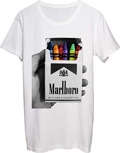 Marlboro Cigarettes Colorful Crayons T-Shirt