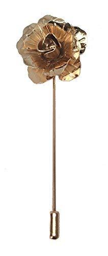 King & Priory Gold handmade Metall Blumen/Rose Anstecknadel, Knopfloch, Corsage, Boutonniere