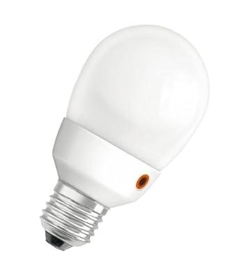 Osram 377722 Dulux EL Intelligent Sensor Miniball 11 W/825, entspricht 60 Watt, Sockel E27 Energiesparlampe im Globeform 60 mm, warmweiß von Osram bei Lampenhans.de