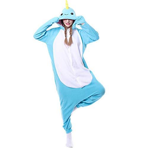 SHANGXIAN Unisex Adulto Animal Pijama Narvales Caricatura Kigurumi Onesies Disfraces Jumpsuits, S
