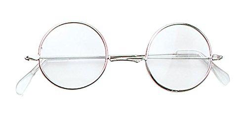 Granny John Lennon rund Brille Gläser mit Clear Lens Fancy Kleid Zubehör