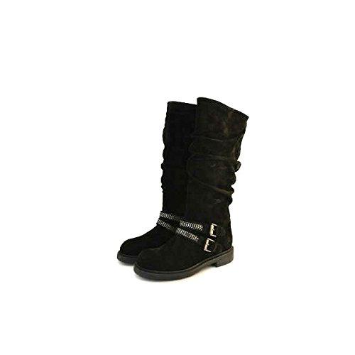 Stivali donna Janet Sport numero 38 in camoscio nero 32762NERO