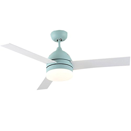 Luce ventilatore lampadario a ventola per uso domestico con pale del ventilatore ventilatore a soffitto silenzioso per soggiorno ventola girevole verde (color : wall control, size : 106 * 106 * 32cm)