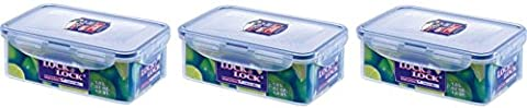 Lock & Lock Stackable Airtight Container Rectangular 1L Pack of