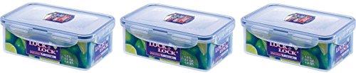 3 X Lock & Lock 1L Food Storage Container - Rectangular HPL817 by Lock & Lock