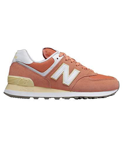 New Balance WL574-B Sneaker Damen orange/weiß, 9 US - 40.5 EU - 7 UK -