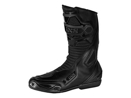 IXS RS-100 - Stivali da moto in pelle, colore: nero