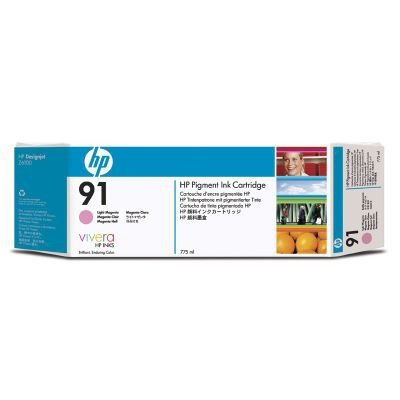 C9487A - HP 91 Tintenpatrone magenta hell (775 ml) 3-Pack mit Vivera Tinte INK CARTR. LIGHT MAGENTA 3PACK -
