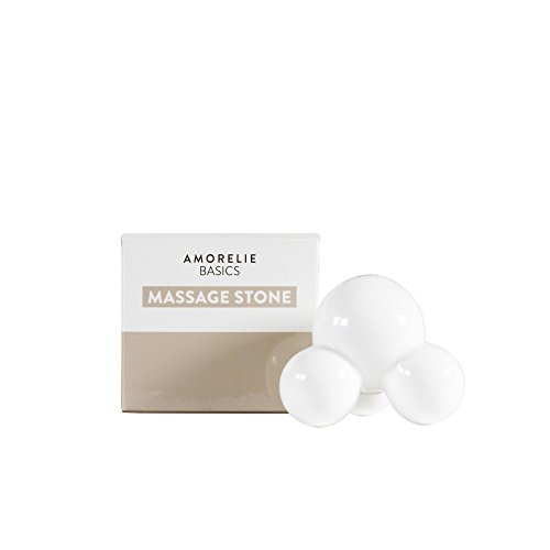 Amorelie Basics Massagestein aus hochwertiger, formstabiler Keramik – Massagegerät mit 3 Armen – auch für Hot Stone Massagen – löst Verspannungen und lockert die Muskulatur