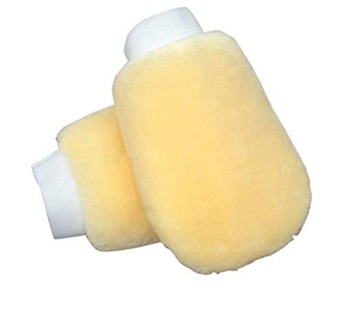 FireAngels - 2 Guantes de Limpieza para Coches, Doble Cara, Lana Artificial, Amarillo, Suave, para pulir Coches, Productos de Limpieza de Lavado, Nettoyage Voitur