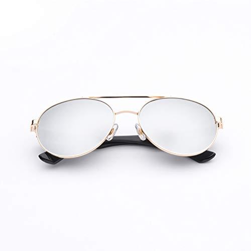 YRE Leichte Version Boy Girl Anti-Ultraviolett-Metall-Brille, Kinder-Sonnenbrille, ausgesuchte Baby-Sonnenbrille Dekoration, Shing 2-8 Jahre alt,A