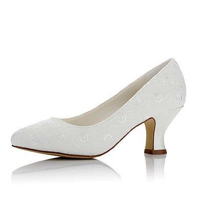 Rtry Femmes Chaussures De Mariage En Satin Confort Automne Hiver Party Wedding & Amp; Soirée Comfort Chunky Ivoire Talon 2a-2 3 / 4in Ivoire Noi4-4.5 / Eu34 / Uk2-2.5 / Cn33 Us8 / Eu39 / Uk6 / Cn39