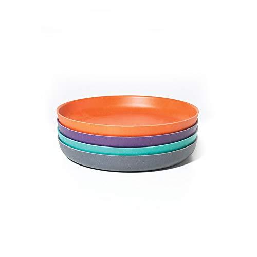 EKOBO 34550 Bambino Teller-Set 4, lagoon / mandarin / prune / smoke