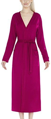 m.Lyra Damen Nachtwäsche Morgenmantel aus Viskose LYNN (pink, S) -