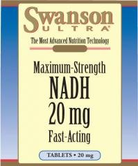 Swanson Ultra Max Strength Fast Acting NADH 20mg (30 Tablets) from Swanson Health Products