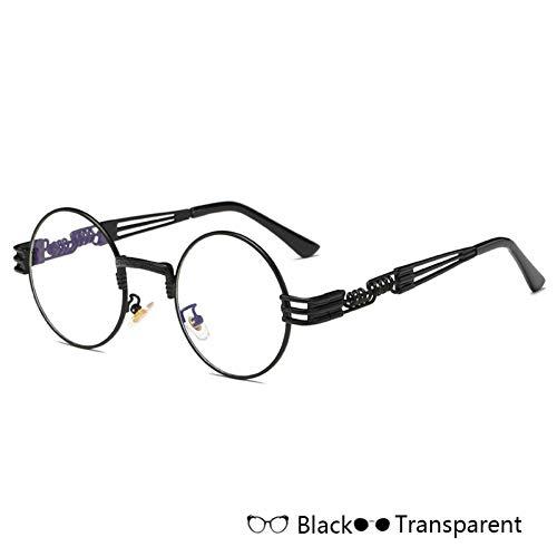 Kjwsbb Herren Damen VintageSonnenbrillen Runde Metall Brillen Rahmen Schutz Sonnenbrille