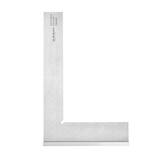 Anschlagwinkel aus Edelstahl 200 x 130 mm (rostfrei) - Hohe Genauigkeit nach DIN875/1 - erstklassige Qualität inkl. Holzbox