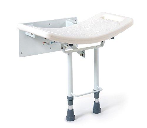 MOPEDIA - Sedile Per Doccia Da Parete Con Piedi Di Appoggio Al Pavimento