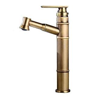 JRUIA Retro Ausziehbare Badarmatur Waschtischarmatur Mit Herausziehbarem  Handbrause Einhebelmischer Bad Waschbecken Wasserhahn F.Badezimmer