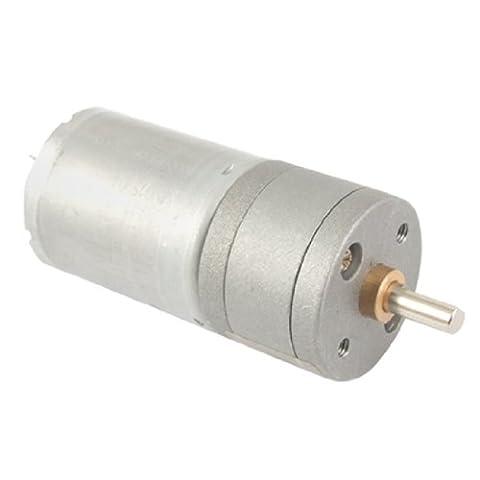 sourcingmap® 12V 40-50mA 400RPM 4mm Shaft 25mm Diameter DC Geared Motor w Gearbox - Alimentazione Shaft