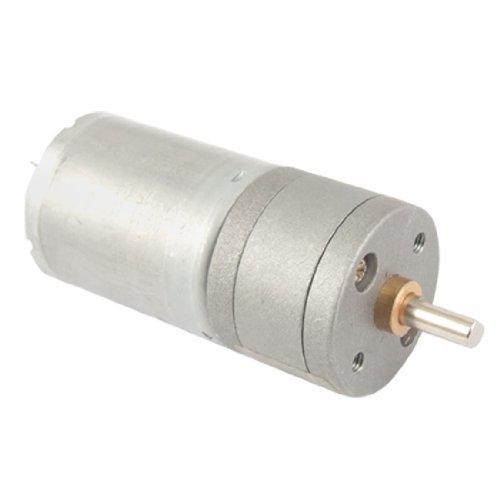 sourcingmap® 12V 40-50mA 400 GIRI/MIN 4mm Shaft 25mm Diametro DC motoriduttore w Scatola del cambio - Alimentazione Shaft