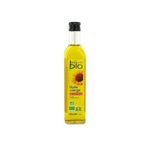 Nature bio huile de tournesol vierge biologique 50cl - ( Prix Unitaire ) - Envoi Rapide Et Soignée
