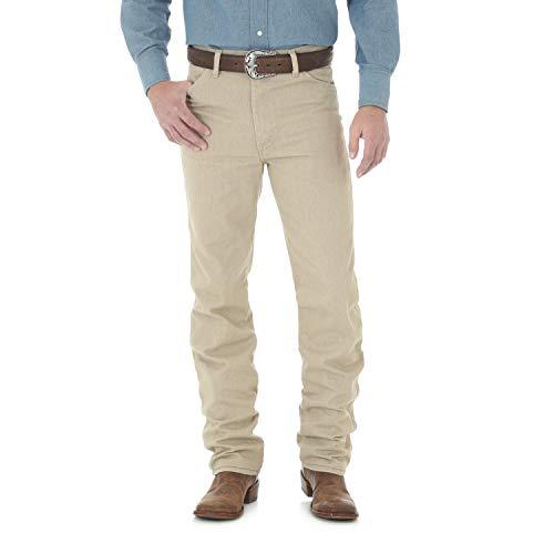 Wrangler Men's Cowboy Cut Slim Fit Jean, Dark Beige, 38x30 -