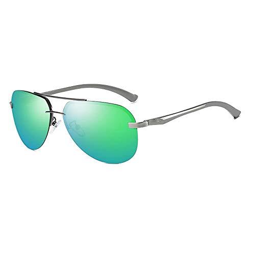 Männer und frauen sonnenbrille muschel brille classic driver fahren nachtsichtbrille polarisierende sonnenbrille für Sonnenbrillen und flacher Spiegel ( Color : 02Grün , Size : Kostenlos )