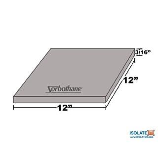 Sorbothane Schwingungsdämpfung Tabelle Lager 50Duro 3/40,6cm (4.76mm) X 12in (30,5cm) X 12in (30,5cm)