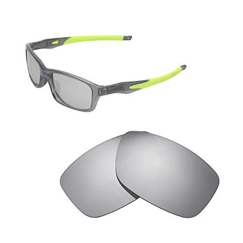 Walleva Ersatzgläser für Oakley Crosslink 55 (OX8030 Serie) Sonnenbrille - Verschiedene Optionen erhältlich, Unisex-Erwachsene, Titanium Mirror Coated - Polarized, Einheitsgröße
