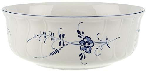 Villeroy & Boch Vieux Luxembourg Plat creux rond, 21 cm, Porcelaine Premium, Blanc/Bleu