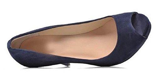 Plateforme Model Lorine par Gilliane Design Eu 33 au 44 Bleu Marine