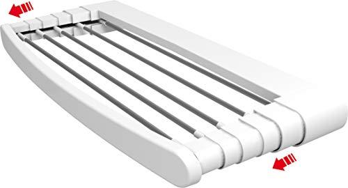 Vileda Genius 70 Tendedero Pared de Aluminio y Resina, Blanco, 74.5x6.
