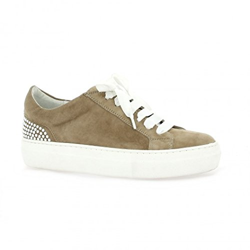 Pao Baskets cuir velours camel Camel