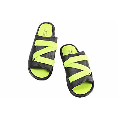 Hommes sandales Printemps Tulle confort décontracté PU VERT/Noir Noir Blanc Télévision Green/Black