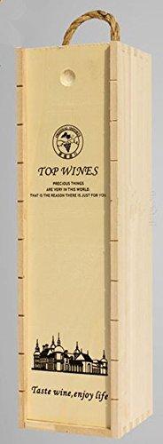 XICHEN caja de madera para botellas de vino,35* 10* 10cm