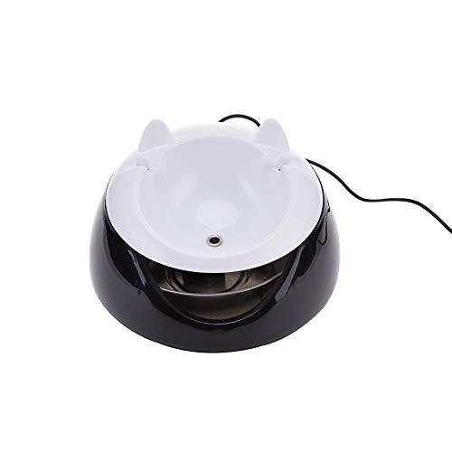 Clevoers Wasser-Trinkbrunnen für Katzen und kleine Hunde, automatische Zirkulation, Haustier-Wasserspender, USB-Aufladung, mit Ultra-leiser Wasserpumpe, abnehmbar