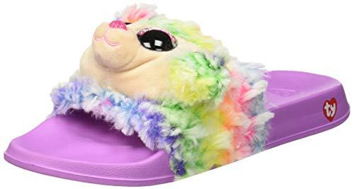 TY Claettes Plüschtier Rainbow der Pudel, Größe L, Rosa und Mehrfarbig -
